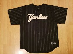 Vintage New York Yankees Jersey Majestic Pin Striped Jersey Made In Usa Mens 2xl