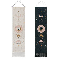 USA Trippy Moon Sun Tapestry Art Wall Hanging Mount Throws Tapestries Home Decor
