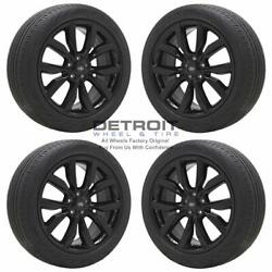 19 Ford Escape Gloss Black Wheels Rims And Tires Oem Set 4 2013-2020 10112