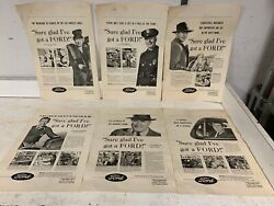 Rare 1944 Fomoco Wwii War Era Posters Newspaper Ad Display Lot Originals 1220