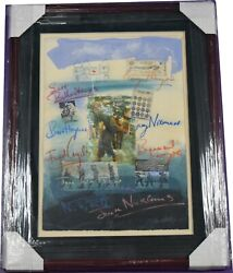 Golf Legends Artists Canvas Painting Collage 23x29 Framed Bc2375