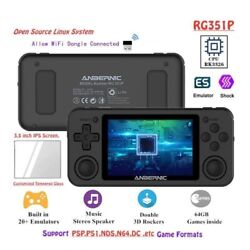 Handheld Game Console Retro Wifi Emuelec Linux System Ips Screen Tempered Film