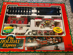 The Holiday Express Musical Christmas Train Set 0181 By New Bright Vintage 1996
