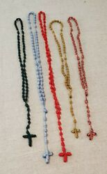 5 Rosaries Hand Knotted Tied Church Storage Find 1