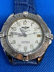1995s Breitling St.steel Swiss Made Automatic Wrist Watch.i Can Replays Band Fo