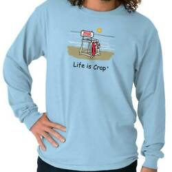 Life Is Crap Funny Summer Vacation Over Gift Long Sleeve Tshirt For Men Or Women