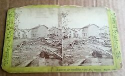 Stereoscopic View Johnstown And Conemaugh Valley Pa Flood Disaster 1889