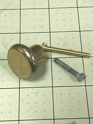 1-1/4 Dia Solid Brass Cabinet Door Knob Qty15 Knobs And Asst Screws 1-1.25andrdquo