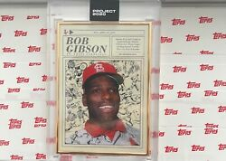 Topps Project 2020 Bob Gibson By Oldmanalan 323 Box 1/1 Gold Frame Pr 1546andnbsp