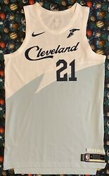 Authentic Nike Nba Game Issued Cleveland Cavaliers Jalen Jones Basketball Jersey