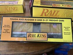 O-27 Gauge Rail King Mth Union Pacific Rounded Roof Boxcar Item 30-7430.
