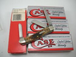 NOS 1995 CASE BONE STOCKMAN KNIFE #6318SHSPSSP SS NEVER USED IN BOX