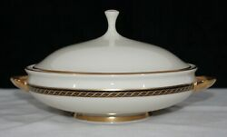 Vintage Discontinued Lenox Tyler Round Covered Vegetable / Casserole Bowl Mint