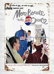 1951 Pepsi cola ads More Bounce To The Ounce metal tin sign metal chicken signs