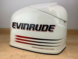 Brp Evinrude Ficht 250hp Top Engine Cowling Cover - White And Red -