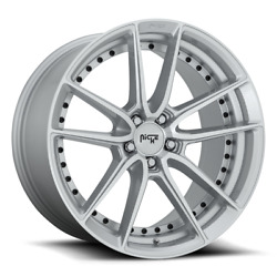 22 Staggered Niche M221 Dfs Gloss Silver Machined 5x115 Wheels Qty 4
