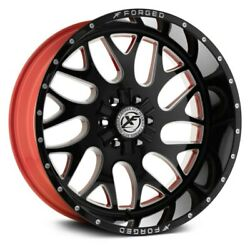 20 Xf Flow Forged Xfx-301 Gloss Black Milled W/red Inner Wheels Qty 4