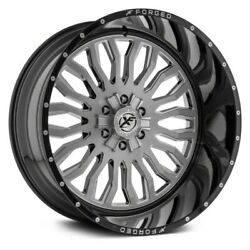 26 Xf Flow Forged Xfx-305 Gloss Black Brushed Wheels Qty 4