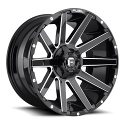 26 Fuel D615 Contra Gloss Black Milled Wheels Qty 4