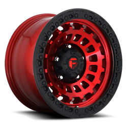 20 Fuel D632 Zephyr Candy Red Black Bead Ring Wheels Qty 4