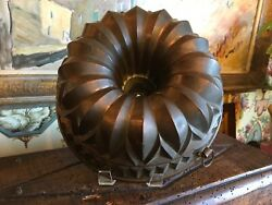 Large Antique French Copper Mold From Chateau In France For Decorative Use
