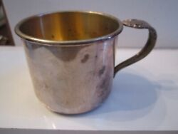 Vintage Rogers Sterling Silver Cup With Gold Wash - 2 - 54 Grams - Sc-11