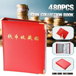 Coins Leather Storage Book Commemorative Penny Coin Album Holder
