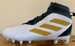 Mens Adidas Freak Ultra Class Football Cleats Size 13 Or 14 White/gold/black