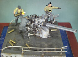 German Army Deck Gun And Crew Of A Type Vi-c Painted Miniature Pre-sale | Art