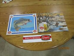 Schmidt Beer Fish And Bob White Quail Placemats And Sticker