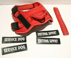 Voopet Reflective Service Dog Harness w Handle and Removable Patches S