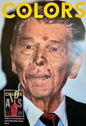 Benetton Colors Ronald Reagan With Aids Poster 1994 41 X 28 Rolled Mint