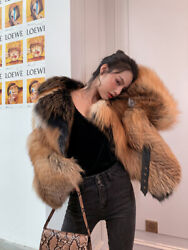 2020 New Womenand039s Short Fox Fur Whole Fur Jacket Fried Street Style Hot Top