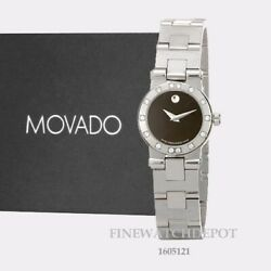 Authentic Movado Vizio Womenand039s Black Dial Stainless Steel Sport Watch 1605121