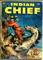 Indian Chief 8 1952 - Dell -fr/g - Comic Book