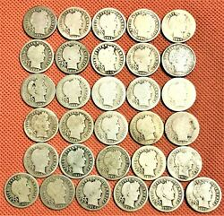 1892-1916 Barber Dimes 31 Coins Several Key Date 1894 1900-o 1913-s And More