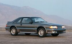 1987 Ford Mustang Gt 5.0 Poster 24 X 36 Inch Looks Great