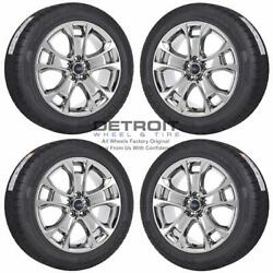 18 Ford Escape Pvd Bright Chrome Wheels Rims And Tires Oem Set 4 2013-2019 3946