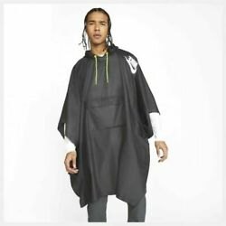 Nike Mens Woven Poncho Black - One Size Rrp Andpound55 Raincover Case Bag Waterproof