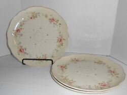 Lot Of 3 Dinner Plates Forever Spring Melodies By Mikasa