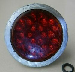 Vintage Old Original Bicycle Rear Reflector Red Glass Made In Ussr Soviet1950s
