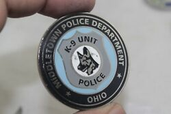 Middletown Police Department K-9 Unit Police Challenge Coin
