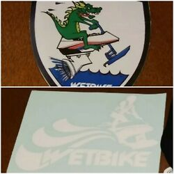 Wetbike Vinyl Decals Set Of 2 White Transfer And Wps Dragon