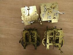 Lot Of 4 Vintage Clock Movements, Two German, Two American