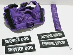 Voopet Reflective Service Dog Harness w Handle and Removable Patches XS