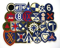 Wwii - Army Corps Collection Set De 24 Patches Original Patch