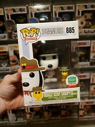 Funko Pop Beagle Scout Snoopy With Woodstock #885 Funko Shop LE Peanuts