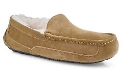 Mens Ugg Ascot Moccasin Slippers - Chestnut Suede, Size 7 M Us [5775]