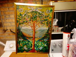 Original Stain Glass {tree Of Life Of The Bible}signed By Lewis C No Dam
