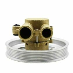 Raw Water Sea Impeller Pump W/ Serpentine Pulley For Volvo Penta 4.3 5.0 5.7 L